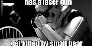 Death Trooper problems.