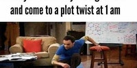 During a book's plot twist