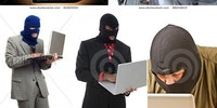 What hackers look like according to stock photo agencies.