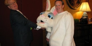 Sean Spicer as the White House Easter Bunny