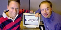 Elon Musk and Peter Thiel unveil PayPal 17 years ago