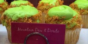 Mountain Dew and Dorito cupcakes.