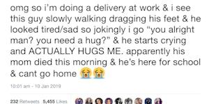 An unexpected hug