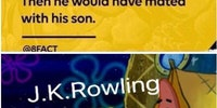J.K Rowling doing some light research.