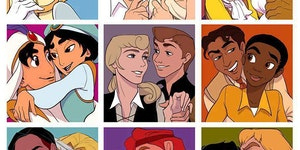 Alternative Disney couples.