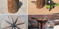 Quick and easy campfire cooking.