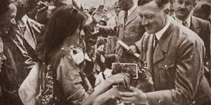 Kendall Jenner giving Hitler a Pepsi to end WW2