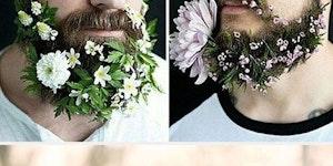 Men with flower beards.