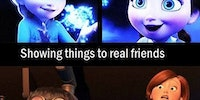 Internet friends vs. real friends.