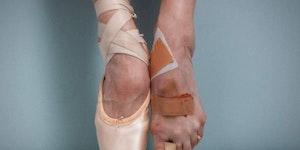 A ballerina's feet
