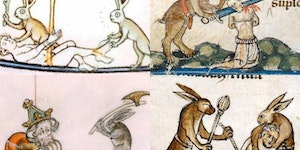 Rabbits In Medieval Manuscripts were hardcore.