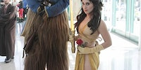 Star Wars/Beauty and the Beast cross cosplay