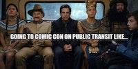 The ride to comic con