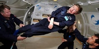 Stephen Hawking enjoying zero gravity