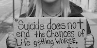 Thoughts on suicide.