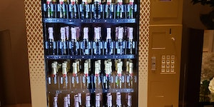 A very champagne vending machine.