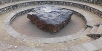 The largest known intact meteorite, weighs over 60 tons