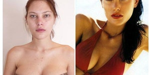 Supermodels without makeup.