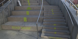 Stairs for advanced stepping.