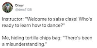 There's been a mixup at the salsa plant...
