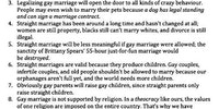 10 reasons to ban gay marriage.