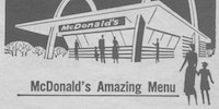The original McDonalds menu.