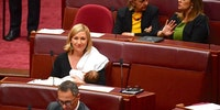 Australian politician becomes first to breastfeed in parliament.