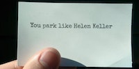 Found this on my windshield today…