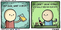 Sorry, I don't drink.