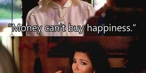 Money to buy happiness