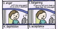 The five stages of incessant pop music.