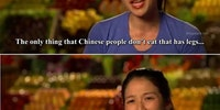 The only things Chinese people don't eat.