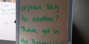 What Did One Orphan Say To The Other?