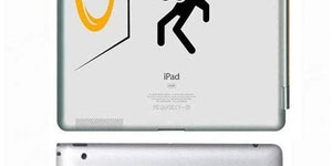 Creative iPad decals.