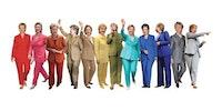 Hillary Clinton pant-suit rainbow