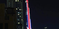 Burj Khalifa today, showing solidarity with the United Kingdom