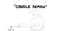 I've been playing DOOM and it always made me laugh there is probably a demon who's sole purpose is to place candles. SO I drew him.