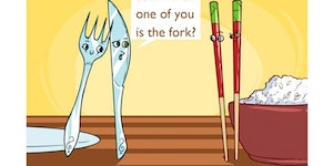 You can't just ask someone who's the fork