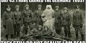 I have earned the Germans' trust...
