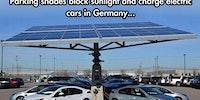 Solar parking shades.