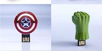 The Avengers USB sticks.