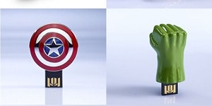 The Avengers USB sticks.