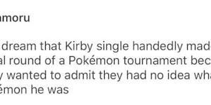 Kirby, the uhh Pokemon.