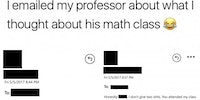 Math Professors have opinions too.