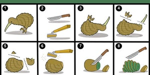 How to prepare a kiwi.