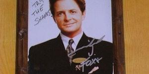 Michael J. Fox's autographed headshot at my favorite local restaurant