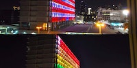 Tel Aviv city hall tonight