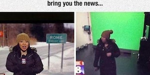 Green screen news