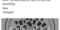 Understanding color theory.