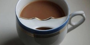 During the Victorian Era there were special tea cups designed to keep the drinker's moustache out of the tea